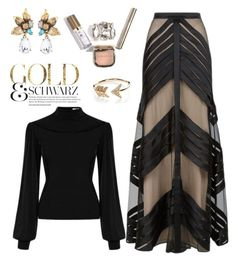 """""""A little Gold"""" by felicitysparks ❤ liked on Polyvore featuring Temperley London and EF Collection"""