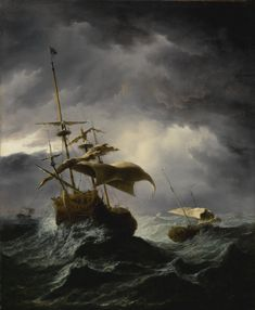 velde, willem an english ship in     marine     sotheby's n09639lot9gns3en