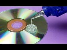Cds And Dvds Recycling - How To Recycle - Diy Crafts Recycled Cd Crafts, Old Cd Crafts, Glue Gun Crafts, Recycled Glass, Diy Crafts, Make Gold, Halloween Room Decor, Life Hacks Youtube, Cactus Ceramic