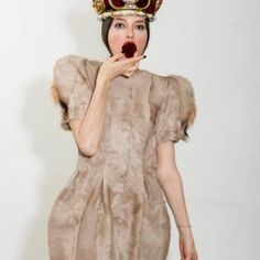 Arina Belova Pony made Dress with elements of wild Boar on sleeve line Confident Woman, Handmade Dresses, All Design, Dress Making, Fashion Designer, Ready To Wear, Short Sleeve Dresses, Dublin, Gowns