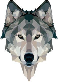 Wolf art print by crunchypeanut art art, geometric wolf y wolf Geometric Wolf Wallpaper, Geometric Art, Wolf Tattoos, Animal Tattoos, Polygon Art, Arte Pop, Art Drawings, Cool Art, Sketches