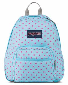 a27990a0fccf JanSport Half Pint Blue Topaz Lipstick Kiss Dot-O-Rama Backpack Polka Dot  Backpack