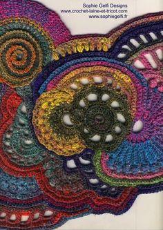 Freeform crochet my work in progress