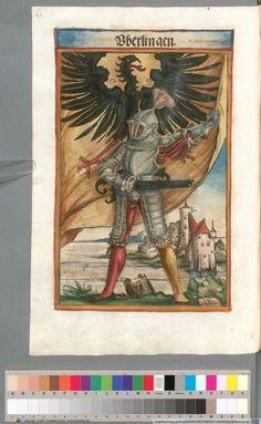 Colour Plate: German State Banners:  Uberlingen, Imperial City
