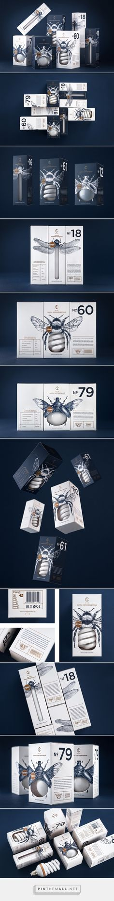 CS Light Bulbs packaging design by Angelina Pischikova Graphisches Design, Label Design, Print Design, Package Design, Cool Packaging, Print Packaging, Bread Packaging, Identity Design, Visual Identity
