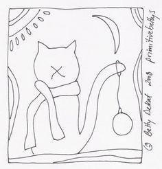 """Free """"Christmas Kitty"""" pattern from Betty DeKat."""