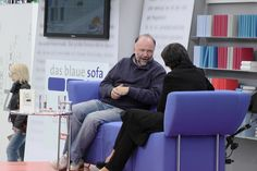Andrej Kurkow auf dem Blauen Sofa der LBM 2012 by Das blaue Sofa, via Flickr Sofa, Time Travel, Reading, Blue, Settee, Couch, Couches