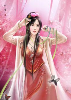Chinese girl by hiliuyun.deviantart.com