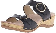 Dansko Women's Manda Slide Sandal, Black Full Grain, 38 EU/7.5-8 M US - Shop Till You Drop List Price: $125.00 Sale Price: $99.95