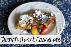 Want french toast taste without all the work? Make this recipe for Overnight French Toast Casserole the night before and pop it in the oven in the morning! Make Ahead French Toast, Overnight French Toast, French Toast Bake, French Toast Casserole, Breakfast Casserole, Breakfast Dishes, Breakfast Recipes, Breakfast Ideas, Breakfast Time