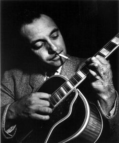 Django Reinhardt, the French gypsy jazz guitar legend who had a deformed left hand as a result of a fire. He also had a web framework named after him (Django for Python). Jazz Artists, Jazz Musicians, Famous Musicians, Gypsy Jazz Guitar, Sultans Of Swing, Django Reinhardt, Jazz Blues, Jazz Age, World Music