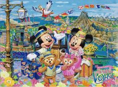 disney tokyo spring voyage poster | Duffy, Shelliemay, Mickey, Minnie