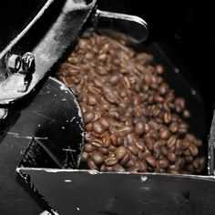 Beans, fresh off the hopper. They're ready for your morning, afternoon and evening brews. #coffee