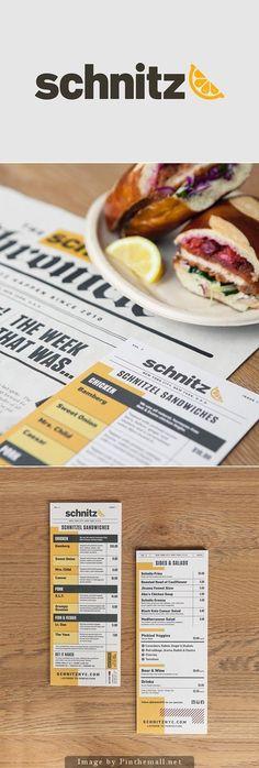 Schnitz menu design in Inspiration