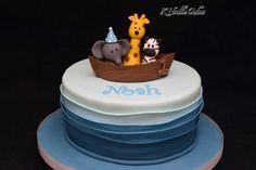 Noah's ark 1st birthday by K Noelle Cakes