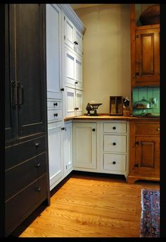 Mid Ohio Farm House - Collected Style Painted And Curly Maple Kitchen