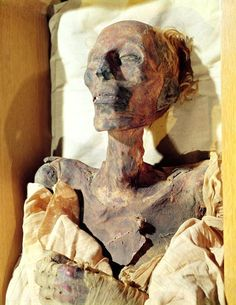 """The Mummified body of King Ramesses II """"Ramesses the Great"""", found in a tomb at Deir el-Bahari. He often is regarded as the greatest, most celebrated, and most powerful pharaoh of the Egyptian Empire. New Kingdom, 19th Dynasty, ca. 1303-1213 BC."""