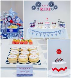 Bike Themed Birthday Party with Lots of Really Cute Ideas via Kara's Party Ideas . Bicycle Birthday Parties, Bicycle Party, Dirt Bike Party, Dirt Bike Birthday, Motorcycle Party, 2nd Birthday Parties, Birthday Celebration, Themed Parties, Birthday Candy