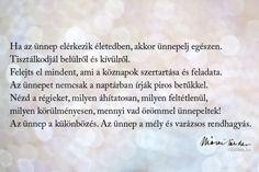 Márai Sándor idézet az ünneplésről.