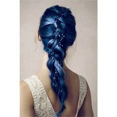 Blue featuring polyvore beauty products haircare hair color hair blue filler