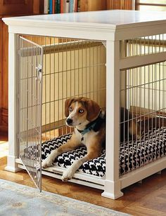 Give your pet the gift of comfort and privacy without sacrificing your home's decor with the Luxury White Pet Residence Dog Crate; a stylish piece you and your pet alike will love.