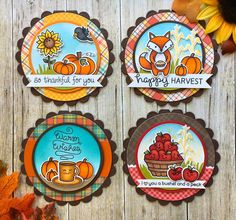 Hello crafty friends! I'm back today with two more Fall Fun cards! As I wrote in yesterday's post, I'll be sharing fall themed cards ...