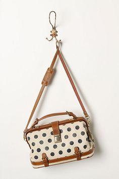 """Anthropologie """"Spotted Satchel"""".  It's on sale and it's still $130 :("""