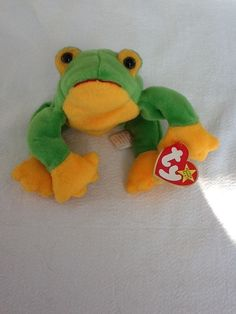 RETIRED TY BEANIE BABY 1997 SMOOCHY THE FROG  #Ty