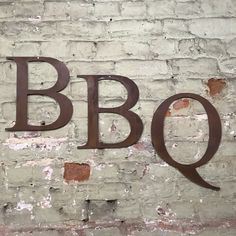 """Rusty Bbq Lettering Letters Signage Metal 12"""" Wall Art Garden Mancave Sign #1 Cafe Bar, Vintage Signs, Industrial Style, Man Cave, Signage, Bbq, Letters, Wall Art, Sideboard"""