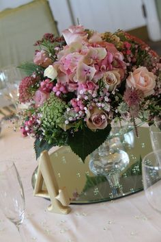 romantic vintage pink reception wedding flowers,  wedding decor, wedding flower centerpiece, wedding flower arrangement, add pic source on comment and we will update it. www.myfloweraffair.com can create this beautiful wedding flower look.