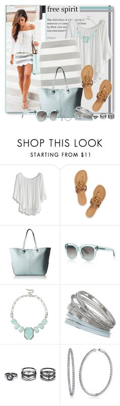 """""""Dreams of Summer"""" by brendariley-1 ❤ liked on Polyvore featuring Chicwish, Tory Burch, Rebecca Minkoff, BOSS Hugo Boss, Kenneth Cole, Dorothy Perkins, LULUS and BERRICLE"""