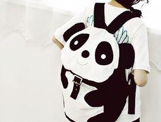 Find images and videos about kawaii, bag and panda on We Heart It - the app to get lost in what you love. Panda Bebe, Cute Panda, Panda Lindo, Panda Party, Living Dolls, Kawaii Shop, Kawaii Bags, Cute Backpacks, Cute Bags