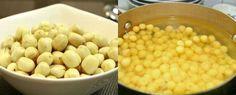 Cho phần hạt sen vào nấu chè
