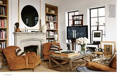 Clement Windows look stunning on the cover of Architectural Digest - Incredible New York City apartment conceived by Ralph Lauren designer Alfredo Paredes. All the beautiful #windows and #doors in this apartment were made by Clement.  #MetalFrame #SteelWindows #SteelDoors #SteelDoors #InteriorDesign #LivingRoom #SteelFrame