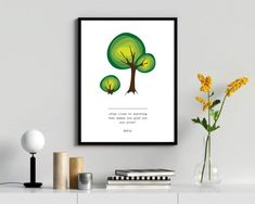 Green tree wall art, a vector illustration with motivationa quatation by RIXdiary on Etsy Fitness Motivation Wallpaper, Purple Orchids, Paper Wallpaper, Pillow Fabric, Tree Wall Art, Digital Wall, Green Trees, Printable Wall Art, Wall Art Prints