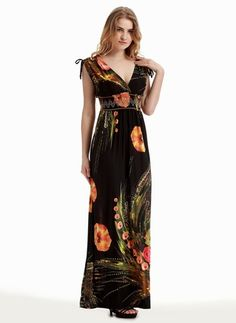 Floral Sleeveless Maxi Casual Dresses