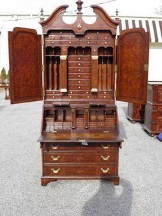 Theodore Alexander Burl Walnut Secretary Desk Brand New | EBay