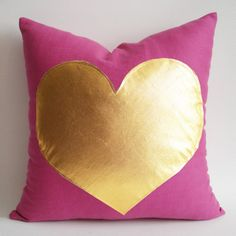 Sukan / pink gold pillow - white and gold pillow - pink and gold pillow - navy and gold pillow - red and gold pillow - grey and gold pillow