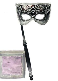 Forum Venetian Style Half Mask On A Stick, Black/Silver, One Size Forum, http://www.amazon.com/dp/B0038195TK/ref=cm_sw_r_pi_dp_sTTKqb12JXNW7