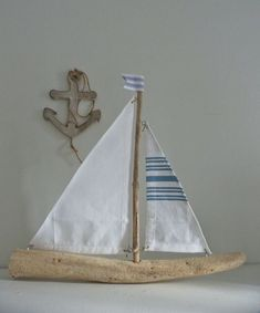 driftwood sailboat - rustic nautical decor - driftwood sailing boat - driftwood decor on Etsy, $35.00