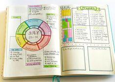 Probar una rueda de calendario semanal en este diseño Weekly Journal bala!