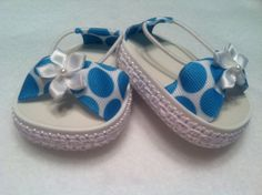 American Girl Doll Shoes White With Turquoise Polka Dots With Elastic. $7.57, via Etsy.