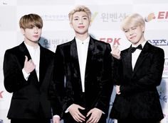 Jungkook, Rap Monster and Jimin ❤ BTS At The 26th Seoul Music Awards (170119) #BTS #방탄소년단