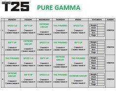 Gamma workout schedule
