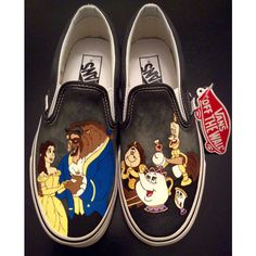 VANS Beauty and the Beast Women's Slip-On by CustomShoesbySabrina