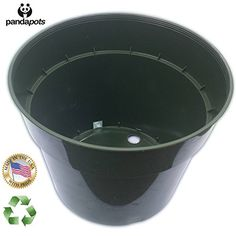 10 Plant Pots - 7.5 Inch Diameter - 100% Recycled Plastic - Made in USA - Strong, Reusable - By Panda Pots - Dark Green-  ** Awesome product. Click the image : Gardening Supplies