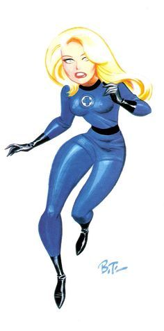 Today our spotlight is on Bruce Timm, the writer and artist behind the animated DC universe. Timm got his start in animation working on seri. Bruce Timm, Fantastic Four, Mister Fantastic, Comic Book Characters, Comic Character, Comic Books Art, Marvel Characters, Batman, Spiderman