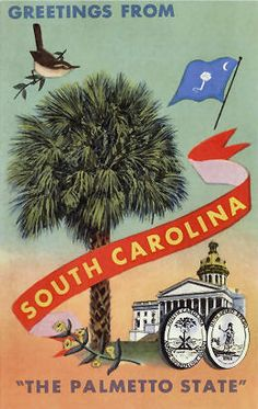 South Carolina, The Palmetto State  Read more about life in the South Carolina Lowcountry at ouryardfarmhome.com and http://on.fb.me/1sCaENi