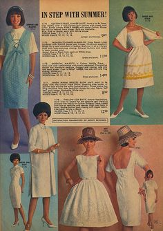 Page 21 of the Summer 1964 Lana Lobell catalog. 1960s Fashion, Vintage Fashion, Vintage Patterns, Vintage Outfits, Vintage Clothing, Catalog, Summer Dresses, My Style, Womens Fashion