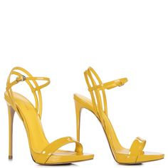 GWEN SANDAL 120 mm Le Silla, Yellow curry patent leather sandal: unique creations for women who love to wear feminine and Made in Italy footwear for each occasion. Stilettos, Stiletto Heels, High Heels, Shoes Sandals, Ankle Strap Sandals, Leather Sandals, Cream Shoes, Wedding Heels, Sneaker Boots